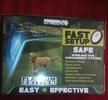 Wireless Dog Fence Containment System~NEW/SEALED