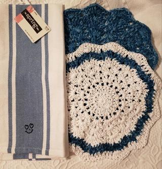 "Crochet 2 - 9"" Dish Cloth/Wash Cloths/1 EVERYDAY DISH TOWEL"