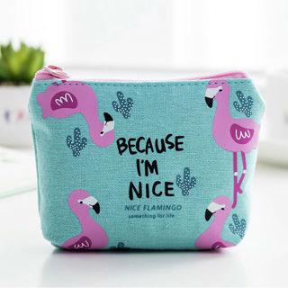 Pouch Coin Bag , Animal Flamingo , Cute Mini Shopping Bag Purse