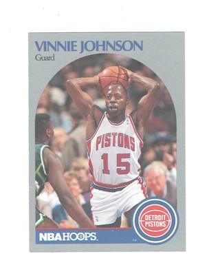 Vinnie Johnson Detroit Pistons Guard NBA Hoops 1990 Basketball Card #107