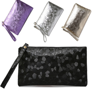 FREE NEW BLACK WOMEN'S Wallet Ladies Evening Handbags Purse Clutch Wristlet Coin Bag Key Holder