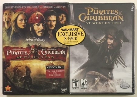 Pirates of the Caribbean At World's End Wal-Mart Exclusive DVD Movie / PC DVD-ROM Video Game Bundle
