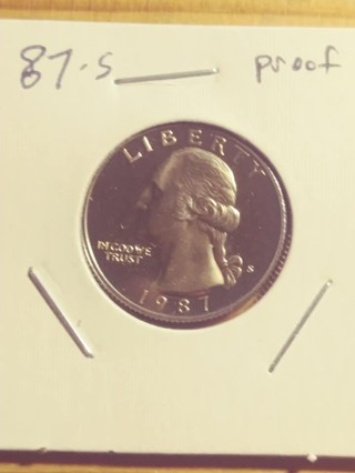 1987-S Proof Cameo Washington Clad Quarter! 19
