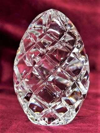 Estate Find Vintage Sparkling Large Crystal Egg