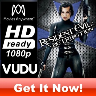 RESIDENT EVIL: RETRIBUTION HD MOVIES ANYWHERE OR VUDU CODE ONLY