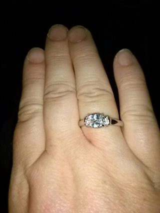 Clear stone ring sz 7