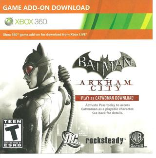 Free: Batman Arkham City Catwoman Pass Code Xbox 360 - Video Game