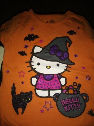 Hello Kitty Orange & Black 2T Top