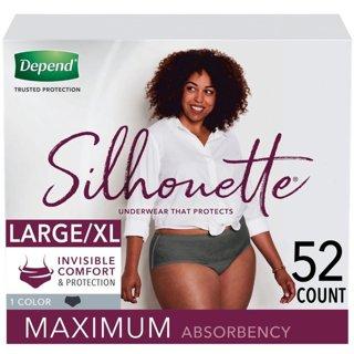 Depend Silhouette underwear Size L/XL 2 pair - one pink/peach & one dark gray/light black FREE SHIP