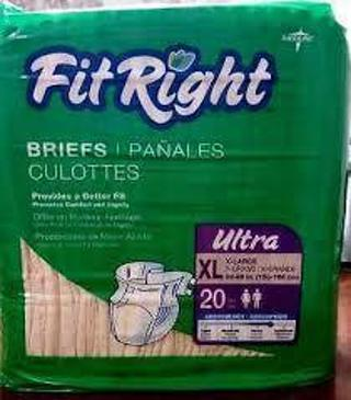 Fit Right Adult Incontinence Briefs