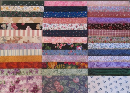 160 Fabric Charm Squares for Quilts - 100% Cotton
