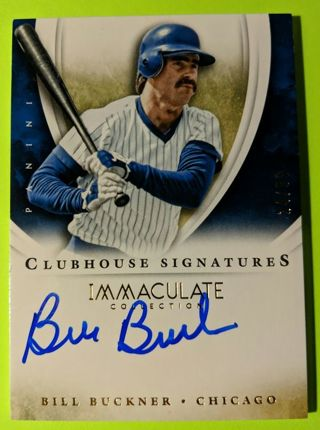 BILL BUCKNER AUTOGRAPHED CARD * #24 OF ONLY 99 MADE