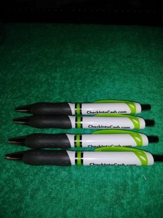 "❤✨❤✨❤️4 BRAND NEW ""CHECK INTO CASH"" INK PENS❤✨❤✨❤WRITES BLACK INK"