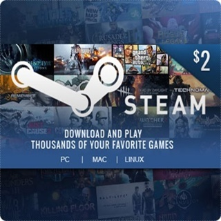 $2 Random Steam Key or Steam Gift Card Code **LOWEST GIN**