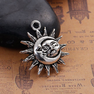 2  Sun And Moon Face Charms