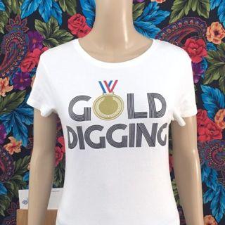 women's Gold Digger Shirt Gold Digging Medal Champ Tee