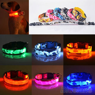 Pets Dog LED Lights Waterproof Flash Night Safety Collar Without Battery
