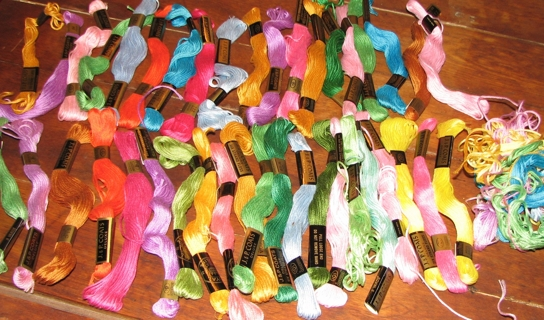 40+ Skeins of Embroidery Floss...Vintage