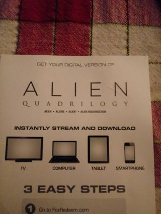 Alien Quardrilogy VUDU Code