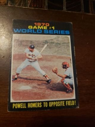 1971 Game one World series powell homers