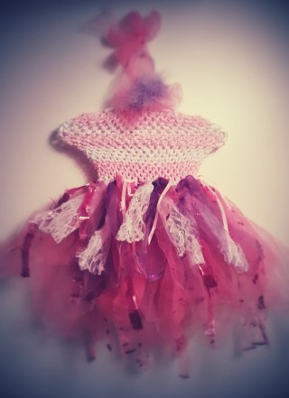 Darling Brand New $39. Handcrafted Fairy Dress w/matching Feather Clip (Girls Ages 1-3)