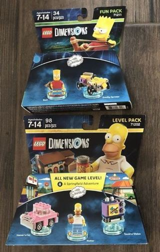 Lego Toys THE SIMPSONS Bart Homer FREE SHIPPING