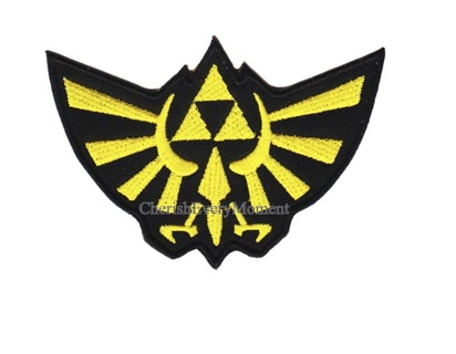 Legend of Zelda Triforce Embroidered Iron-on Patch