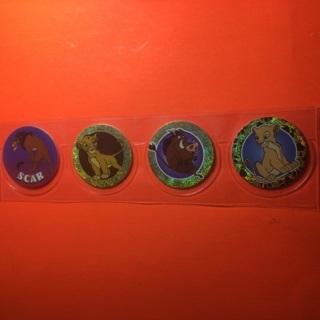 4 Lion King 1995 Pogs!