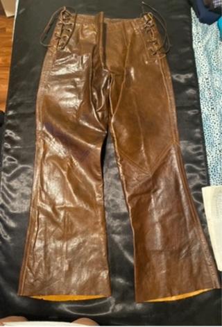 Brown Leather Pants Size Medium