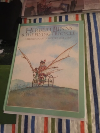 Beautiful hardcover Herbert Bunns and the Flying Tricycle