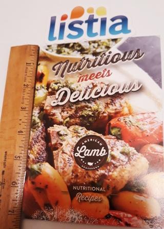 Small 18 Page LAMB Cookbook
