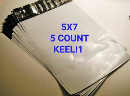 (5) 5x7 POLY MAILER BAGS