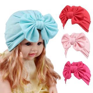 Baby hat Baby Girls Boho Hat Bow tie Beanie Scarf Turban Head Wrap Cap winter hats for kids fotogr