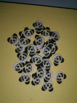 Panda bears, Fimo!