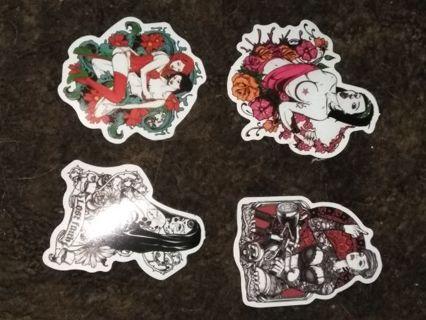 Tattooed women stickers (4)
