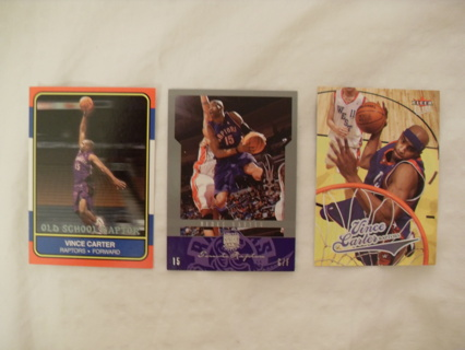 Vince Carter basketball card lot of 3