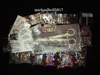 Complete Sterile Piercing Kit!!! Free Shipping With Tracking!!! Limited Time Bonus Deal Update!!!