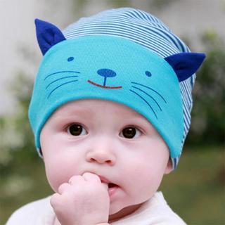 DreamShining Cotton Baby Hat Lovely Cat Stripe Beanie Cap Winter Toddler Infant Newborn Kids Cap B
