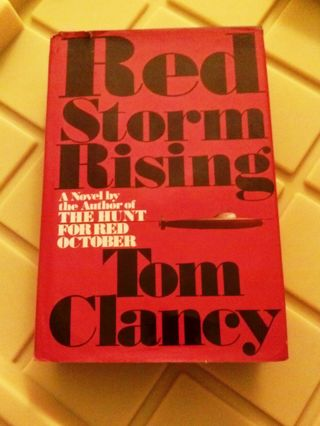 1 book Red Storm Rising Mass Market HARDCOVER