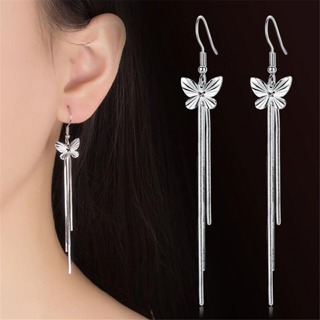 Drop Earring butterfly tassel fashion
