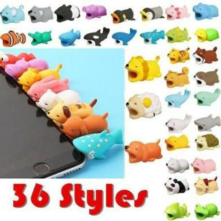 35 Cute Cartoon Animal Protect Cable Bite Phone USB Charger Soft Cord For Apple