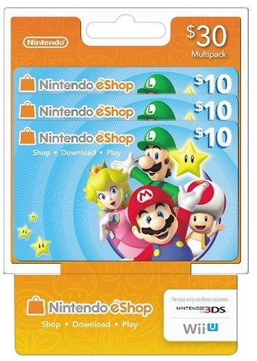nintendo store gift card free 30 nintendo 10 x 3 eshop gift cards for nintendo 6699