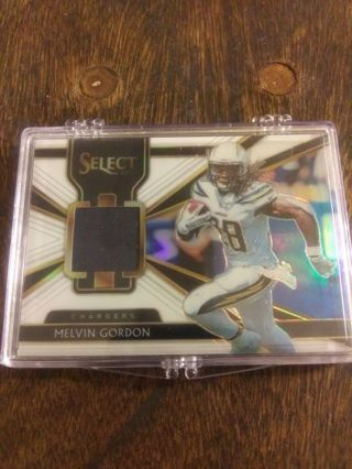2018 PANINI SELECT GAME USED JERSEY CARD OF MELVIN GORDON 72/75