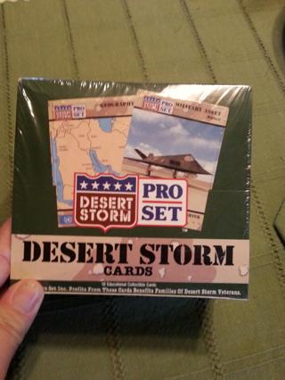 sealed box of desert storm cards