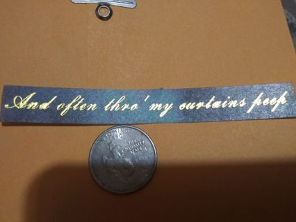 Deco saying scrap book sticker No refunds! Good quality! Lowest gins no lower!