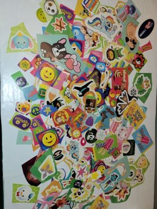 220 NEW ASSORTED STICKERS FREE SHIPPING