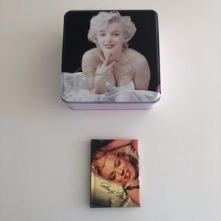 Marilyn Monroe Lot • 5.5 Square Tin • Mini Phone Black Book • Free Shipping
