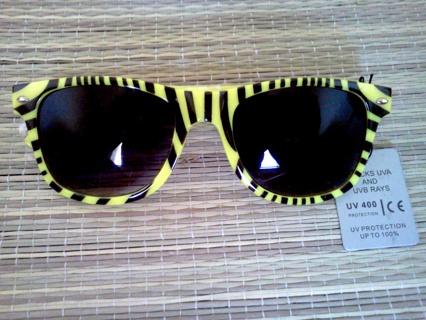 Retro wayfarer ZEBRA print sunglasses! BRAND NEW