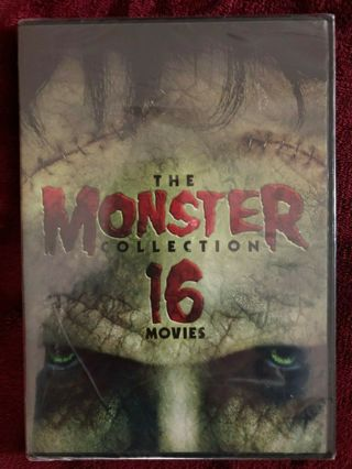 The Monster Collection:16 HORROR Movies (DVD, 2015, 3-Disc Set)-New & Sealed