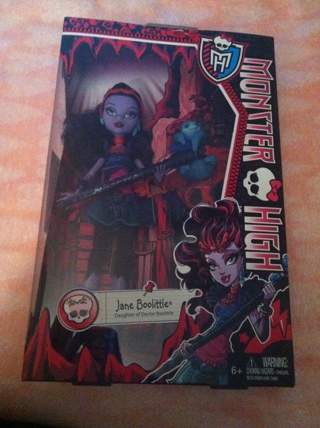 BNIB Jane Bolittle Monster High Doll...Low GIN...Great Gift